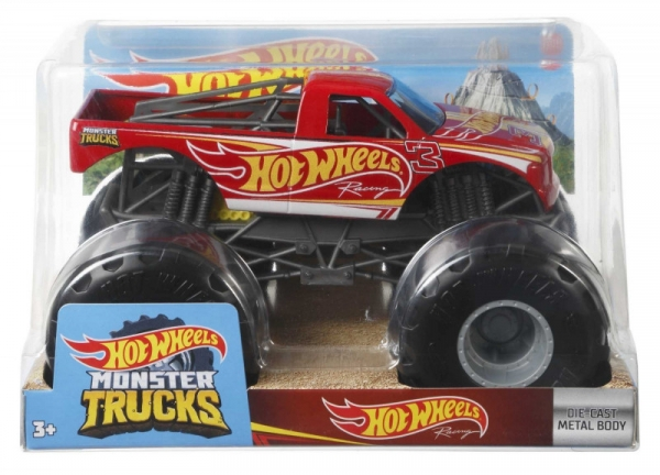 Pojazd Monster Truck Pojazd 1:24 Czerwony wyścigowy (FYJ83/GWL15)