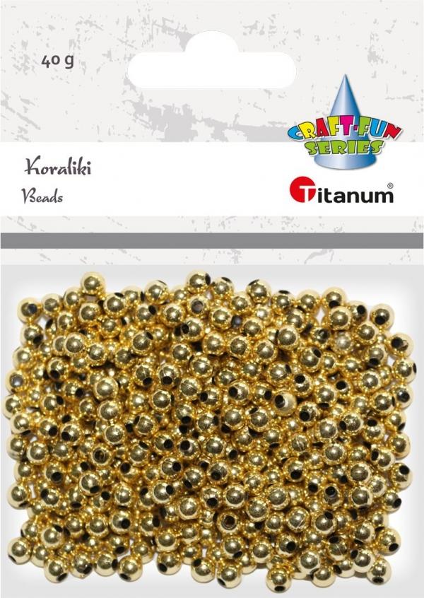 Koraliki Titanum Craft-fun złote