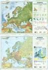 Podkładka na biurko A2 Europa ukształtowanie powierzchni/polityczna dwustronna