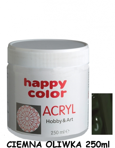Farba akrylowa 250 ml ciemna oliwka (0250-56)