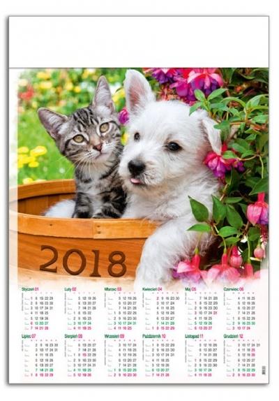 Kalendarz plakatowy Przyjaciele A1 2018 GM-917-T11-BIAŁY