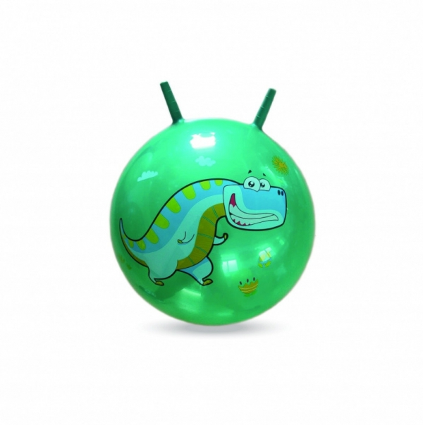 Piłka do skakania z rogami Dino 45 cm (003009)
