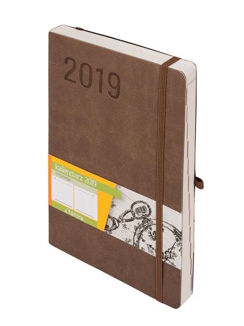 Kalendarz 2019 Impresja A5 beżowy -