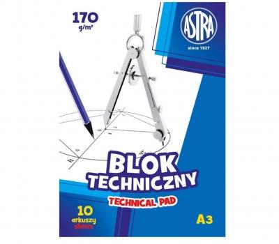 Blok techniczny A3/10K 170g (10szt) ASTRA