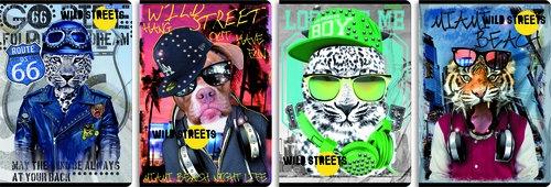 Zeszyt A5 Top2000 w kratkę 60 kartek Wild Streets 10 sztuk mix
