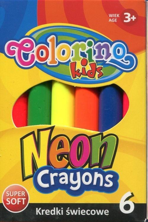 Kredki świecowe neonowe - JUMBO - 6 kolorów (67287PTR)