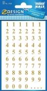 Naklejki do domu - złote cyfry (3728)