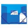 Teczka plastikowa na gumkę Strigo A4 kolor: niebieska (SF026)