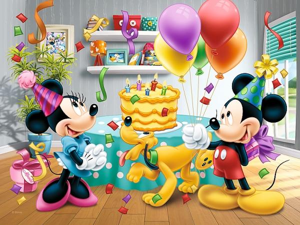 Puzzle 30: Myszka Miki i przyjaciele. Tort urodzinowy (18211)