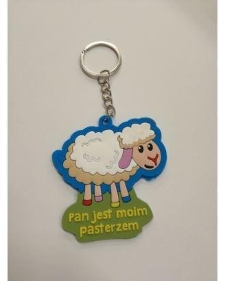 Brelok gumowy - owca - Pan jest moim pasterzem