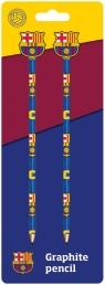 Ołówek z gumką 2 szt FC Barcelona
