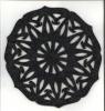 Ozdoba z filcu - podkładka rozeta 005 30x30cm