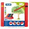 Kredki ołówkowe Milan 231 FLEXI BOX trójkątne, 24 kolory w plastikowym opakowaniu (0729324)