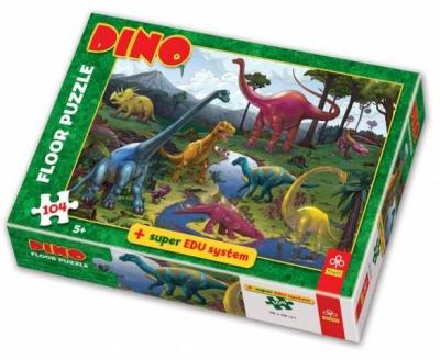 Dino - Puzzle Podłogowe XL - 104 elementy (28028)