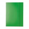 Teczka kartonowa z gumką lakierowana zielona A4