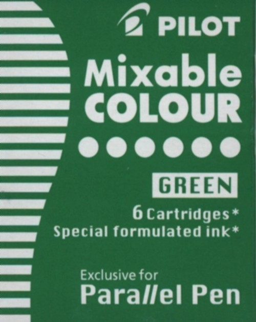 Naboje do pióra Pilot Parallel Pen zielone 6 szt. (IC-P3-S6-G)