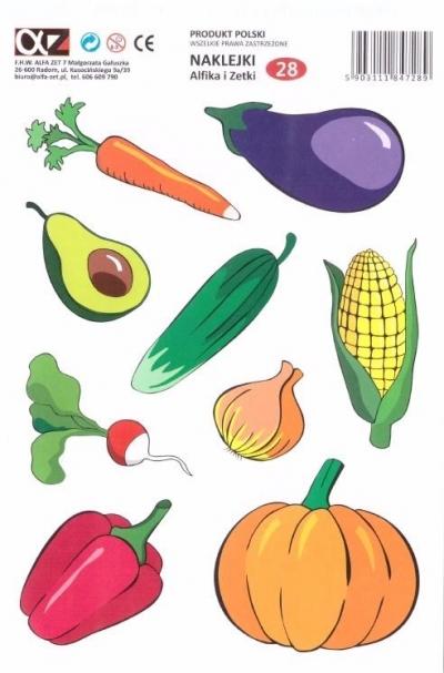 Naklejki Alfika i Zetki 28 Warzywa