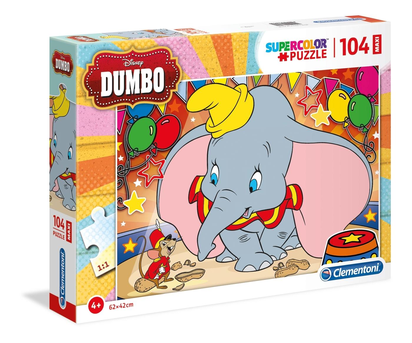 Puzzle Maxi Supercolor 104: Dumbo (23728)