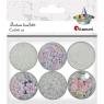 Zestaw dekoracyjny, 6 słoiczków - perłowe białe (339367)