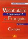 Vocabulaire progressif du français Niveau intermédiaire Corrigés Klucz 2. Miquel Claire, Goliot-Lete Anne