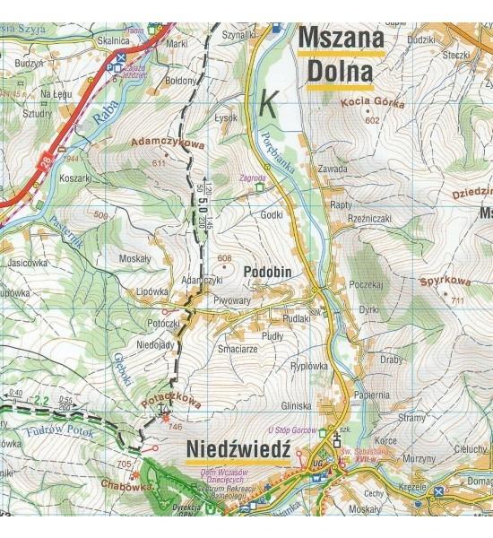 Gorce, 1:40 000 - Mapa turystyczna wodoodporna (1593-2020)