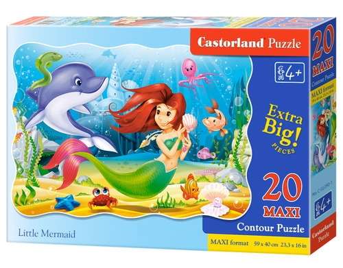 Puzzle Maxi Little Mermaid 20 elementów