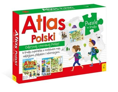 Atlas Polski +Plakat z mapą +Puzzle