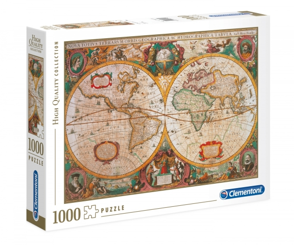 Puzzle 1000 High Quality Collection: Antyczna mapa (31229)
