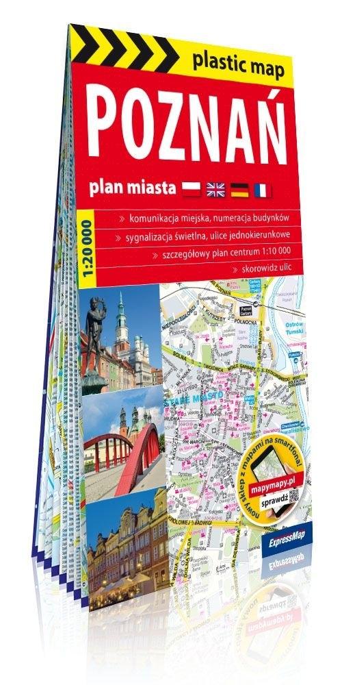 Poznań foliowany plan miasta 1:20 000
