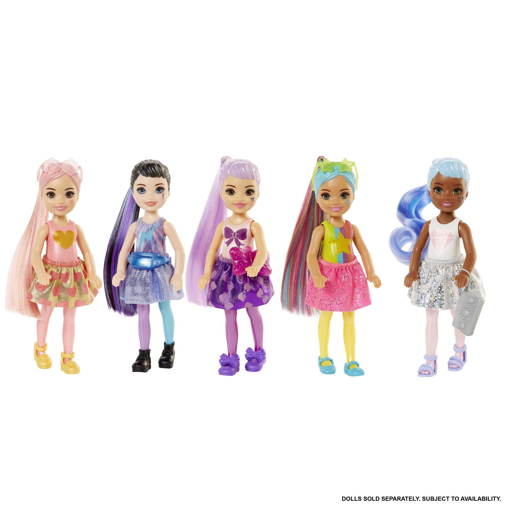 Barbie: Color Reveal - Brokatowa lalka Chelsea (GTT23)