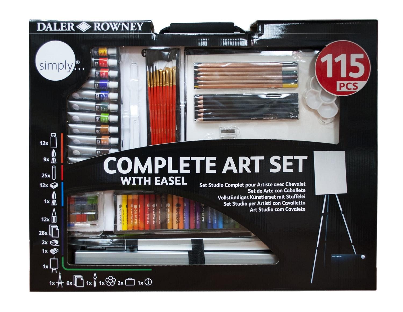 Simply Art - Zestaw artystyczny ze sztalugą - 115 elementów (196500604)
