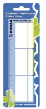Zakładki indeksujące Donau z linijką 3x10 karteczek mix kolorów