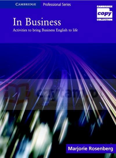 In Business Pre-Int/Upper-Int Book Marjorie Rosenberg
