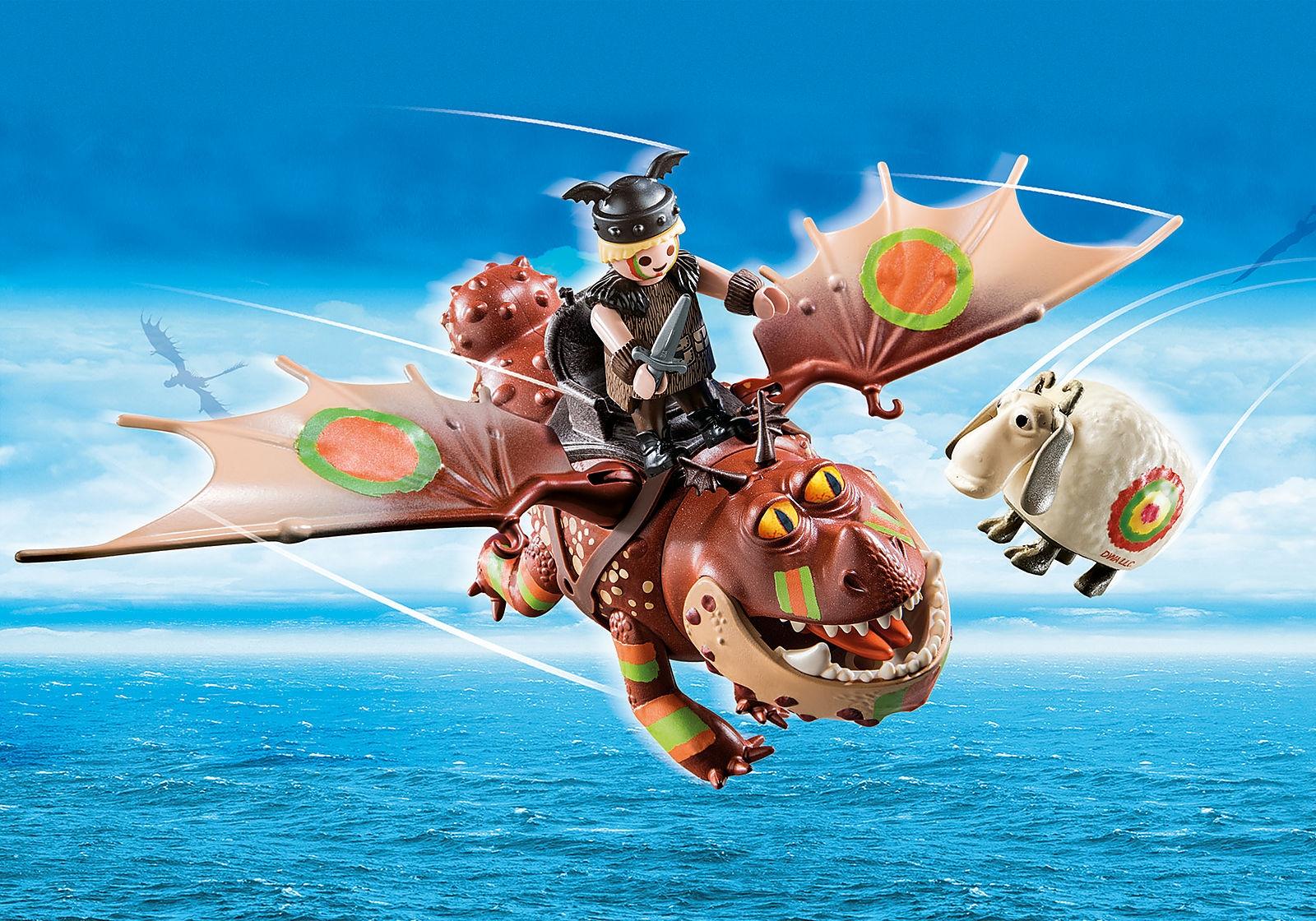 Playmobil Dragon Racing: Śledzik i Sztukamięs (70729)