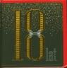 Karnet 18-tki  kwadrat złocony CO mix