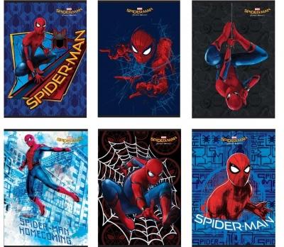 Zeszyt A5 Spider-Man w kratkę 54 kartki 10 sztuk mix