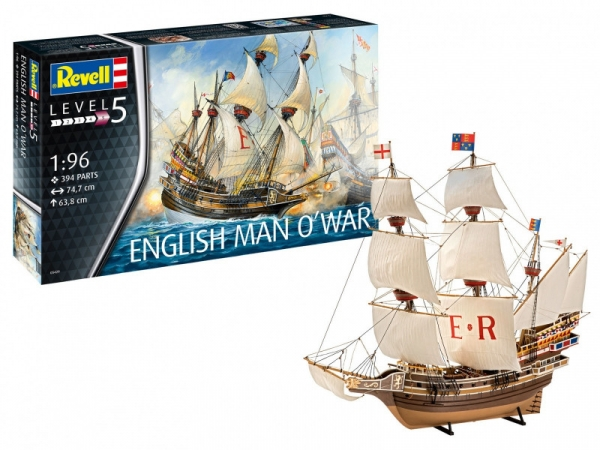 Model plastikowy English MAN O WAR (05429)