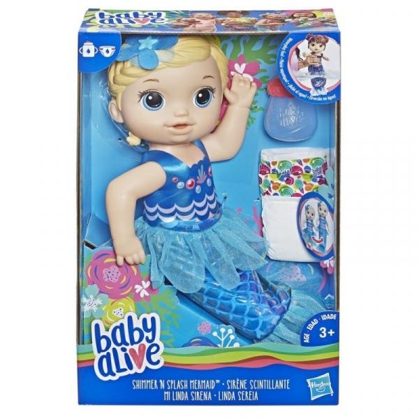 Baby Alive Lala Migocząca Syrenka Blondynka (E3693)
