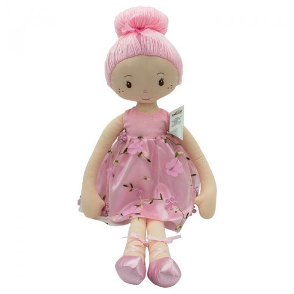 Lalka Luiza sukienka kwiaty 70 cm (5075b)