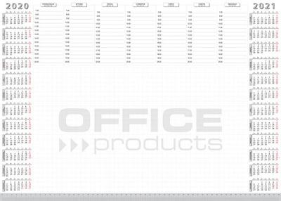 Podkład na biurko Office Products biuwar - biały (19041161-99)