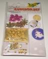 Zestaw Świątecznych Akcesoriów Dekoracyjnych ze Złotą Gwiazdą 122 STEA1402