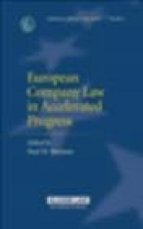 European Company Law in Accelerated Progress S Bartman