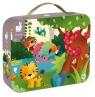 Puzzle panoramiczne w walizce Dżungla 36 elementów (J02729)