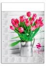 Kalendarz plakatowy Bukiet Kwiatów A1 2018 (GM-917-T11-BIAŁY)
