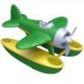 Hydroplan z zielonymi skrzydłami