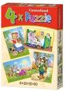 Puzzle x 4 - Czerwony Kapturek CASTOR (04294)