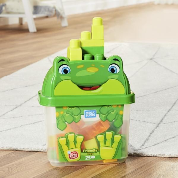 Mega Bloks: Pojemnik z klockami - żabka