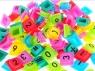 Puzzle silikonowe alfabet mix 100szt
