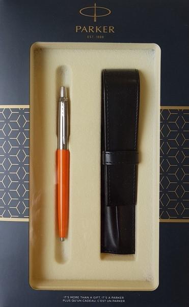 Zestaw upominkowy Parker: Długopis Parker Jotter pomarańczowy + Etui Pagani (S0825290)