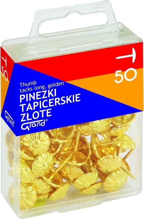 Pinezki Grand tapicerskie złote T4 50 sztuk